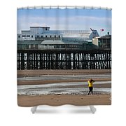 North Pier Shower Curtain