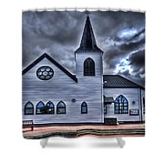 Norwegian Church Cardiff Bay Shower Curtain