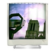 Notre Dame De Paris. France Shower Curtain
