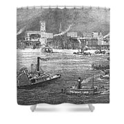 Nyc: The Battery, 1884 Shower Curtain