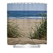 Ocean View With Sand Shower Curtain