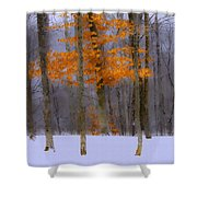 October Flame Shower Curtain