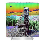 Old Mining Structure Shower Curtain