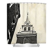 Old North Church In Boston Shower Curtain by Elena Elisseeva