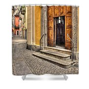 Old Stone Alley Shower Curtain