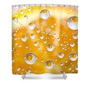 Orange Water Drops Shower Curtain