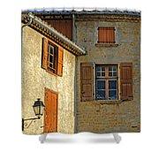 Orange Windows In Provence Shower Curtain