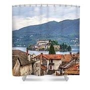 Orta - Overlooking The Island Of San Giulio Shower Curtain