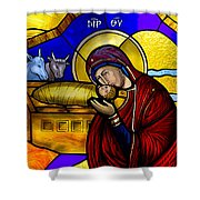 Orthodox Christmas Card Shower Curtain
