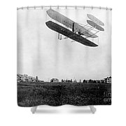 Orville Wright In Wright Flyer, 1908 Shower Curtain