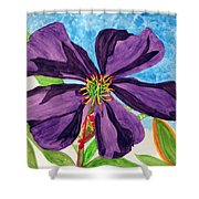 Our Very Bold Tibouchina Shower Curtain