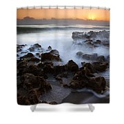 Overwhelmed By The Sea Shower Curtain
