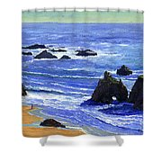 Pacific Solitude Shower Curtain