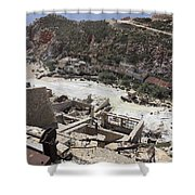 Paliorema Sulfur Mine And Processing Shower Curtain