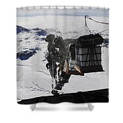 Pallets Are Released From A C-130 Shower Curtain