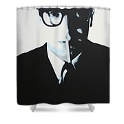 Palmer Shower Curtain by Luis Ludzska