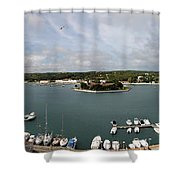 Panoramic Town 1 Shower Curtain