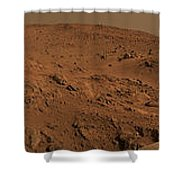 Panoramic View Of Mars Shower Curtain