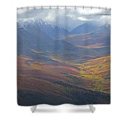 Panoramic View Of The North Klondike Shower Curtain