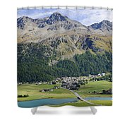 Panoramic View Over Mountain Shower Curtain