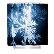 Paper Snowflake Shower Curtain