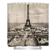 Paris: Eiffel Tower, 1900 Shower Curtain