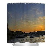 Parisian Sunset. Shower Curtain