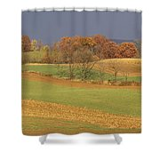 Pastoral View Of Rolling Fields Shower Curtain