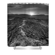 Path To The Sun   Black And White Shower Curtain