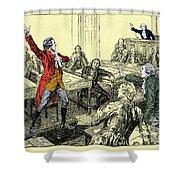 Patrick Henry, Virginia Legislature Shower Curtain by Photo Researchers