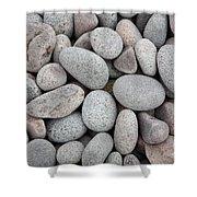 Pebbles On Beach Shower Curtain