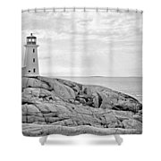 Peggy's Point Lighthouse Shower Curtain