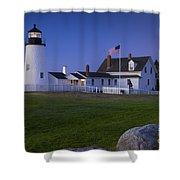 Pemaquid Point Lighthouse Shower Curtain by Brian Jannsen