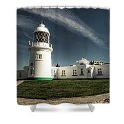 Pendeen Lighthouse Shower Curtain