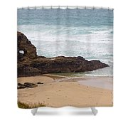 Perranporth In The Winter Shower Curtain