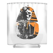 Pharaoh Stencil  Shower Curtain by Pixel  Chimp