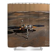 Phoenix Mars Lander Shower Curtain