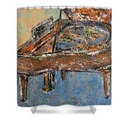 Piano Study 1 Shower Curtain