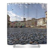 Piazza Grande - Locarno Shower Curtain