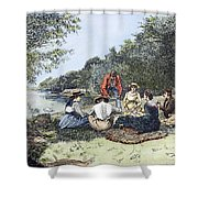 Picnic, 1885 Shower Curtain