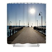 Pier In Backlight Shower Curtain