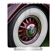 Pierce Arrow Wheel Shower Curtain