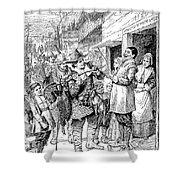 Pilgrims: Thanksgiving, 1621 Shower Curtain
