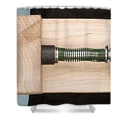 Pinball Spring Released Shower Curtain