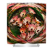 Pink African Daisies Shower Curtain