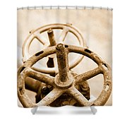 Pipeline Valves Shower Curtain