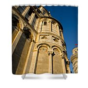 Pisa Tower And Cathedral Shower Curtain