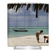 Pongwe Beach Hotel  Shower Curtain