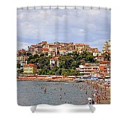 Porto Maurizio - Liguria Shower Curtain by Joana Kruse