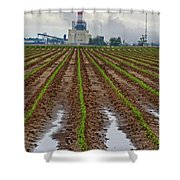 Power And Plants Shower Curtain